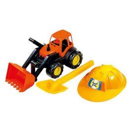 Zebratoys Песочный набор Zebratoys Трактор c каской и лопатой