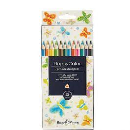 Bruno Visconti Карандаши цветные HappyColor, 12 цветов, Bruno Visconti