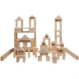 PAREMO Деревянный конструктор, 85 деталей, неокрашенный, в деревянном ящике