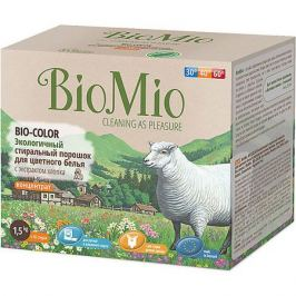 BIO MIO Экологичный стиральный порошок для цветного белья с экстрактом хлопка, концетрат, BIO MIO