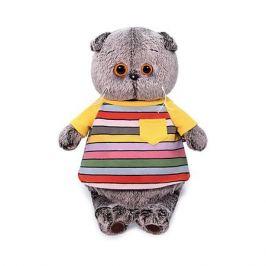 Budi Basa Мягкая игрушка Budi Basa Кот Басик в полосатой футболке с карманом, 19 см