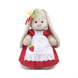 Budi Basa Одежда для мягкой игрушки Budi Basa Платье красное в белый горошек и белый фартук, 25 см