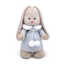 Budi Basa Одежда для мягкой игрушки Budi Basa Голубое пальто с меховым воротником и помпонами, 25 см