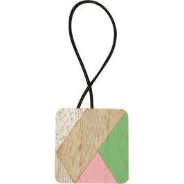Подхват магнитный «Азура» 6х44 см цвет розовый/белый/натуральный/зелёный