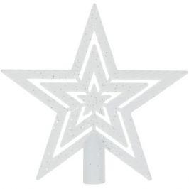 Верхушка для ёлки «Звезда» 18 см, цвет белый