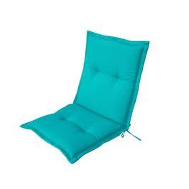 Подушка для стула голубая 92х42х5 см, полиэстер