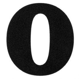 Цифра «0» DuckandDog маленькая 70х65 мм сталь цвет черный