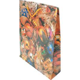 Пакет бумажный «Ёлочные шарики» 45х32 см