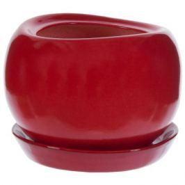 Горшок цветочный «Адель» d13 см, керамика, цвет красный