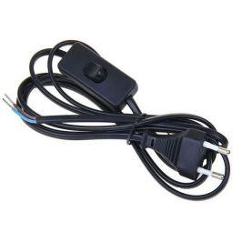 Шнур сетевой с выключателем, 1.9 м, цвет чёрный