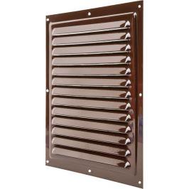 Решетка вентиляционная с сеткой Вентс МВМ 250 с, 250х250 мм, цвет коричневый