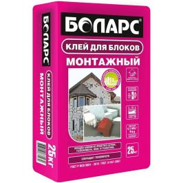 Клей для блоков Боларс Монтажный, 25 кг