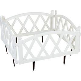 Ограждение садовое декоративное «Арка» цвет белый
