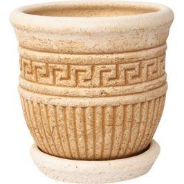 Горшок цветочный «Ионик №1» 3 л 200 мм, шамотная глина