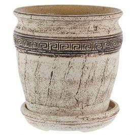 Горшок цветочный «Аттика №5» 18 л 340 мм, шамотная глина
