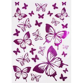 Наклейка «Розовые бабочки» Декоретто L, 5 шт.