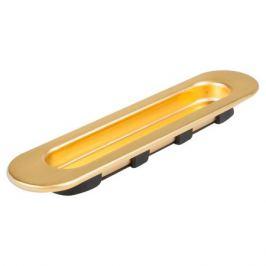 Ручка мебельная для шкафа купе 96 мм металл/пластик цвет матовое золото