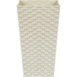 Горшок цветочный «Ротанг» белый 140 мм, пластик
