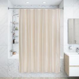 Штора для ванной комнаты «La perla» 180х200 см цвет бежевый