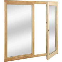 Окно деревянное 116х117 см глухое/поворотное, однокамерный стеклопакет