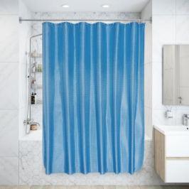 Штора для ванной комнаты «Бриллиант» 180х180 см цвет голубой