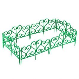 Ограждение садовое декоративное «Ажурное» цвет зелёный