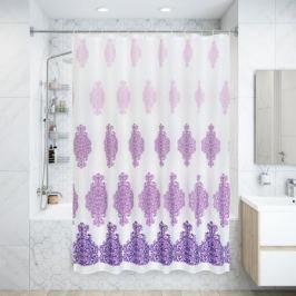 Штора для ванной комнаты «Антураж» 180x180 см цвет фиолетовый