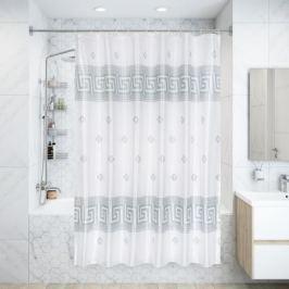 Штора для ванной комнаты 180х180 см цвет белый