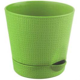 Горшок цветочный «Партер» зелёный 0.35 л 95 мм, пластик