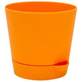 Горшок цветочный «Партер» оранжевый 0.7 л 115 мм, пластик