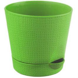 Горшок цветочный «Партер» зелёный 0.7 л 115 мм, пластик
