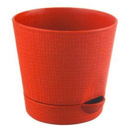 Горшок цветочный «Партер» оранжевый 1.4 л 150 мм, пластик