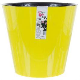 Горшок цветочный «Фиджи» жёлтый 5 л 230 мм, пластик, с поддоном