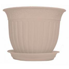 Горшок цветочный «Виноград» кремовый 6 л 300 мм, пластик, с поддоном