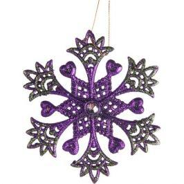Ёлочное украшение «Снежинка со стразинкой» 13 см