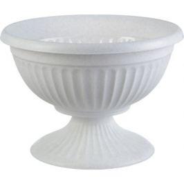Кашпо-миска «Ламела» белый 400 мм, пластик