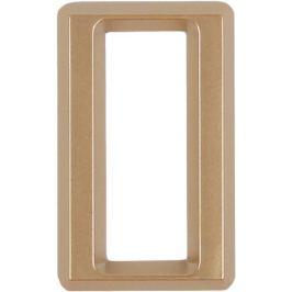 Цифра «0» Larvij самоклеящаяся 60х37 мм пластик цвет матовое золото