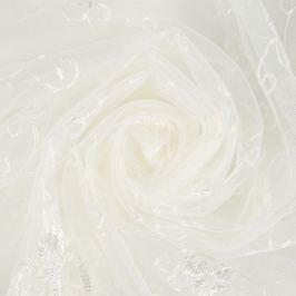 Тюль с вышивкой на сетке «Престиж» 1 п/м 280 см цвет кремовый