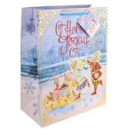 Пакет новогодний «Счастливое семейство», 18х23х10 см