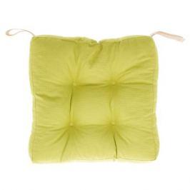 Сидушка для стула 40х40х6 см цвет горчичный