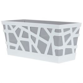 Ящик балконный «Мозаика», цвет серый