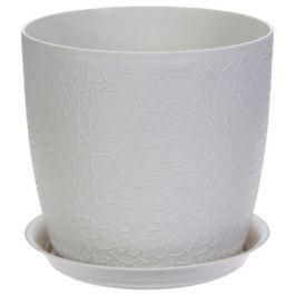 Кашпо с поддоном «Верона» d180 мм, 3 л, ротанг, цвет белый
