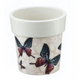 Кашпо «Бабочки» 1.1 л, 150 мм, Тубус Деко