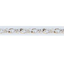 Молдинг настенный полистирол Decomaster 157-54 белый 1.4х3х200 см