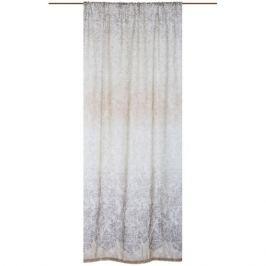 Штора на ленте «Вензель-1» 160х260 см цвет бежево-коричневый