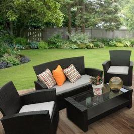 Набор садовой мебели Марокко полиротанг коричневый: стол, диван и 2 кресла