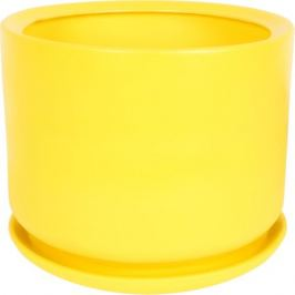 Горшок цветочный «Орфей» d29 см, керамика, цвет жёлтый