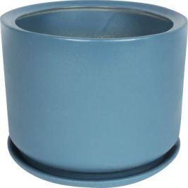 Горшок цветочный «Орфей» d29 см, керамика, цвет синий