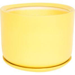 Горшок цветочный «Орфей» d24 см, керамика, цвет жёлтый