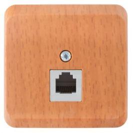Телефонная розетка накладная Schneider Electric Этюд RJ11, цвет темный бук